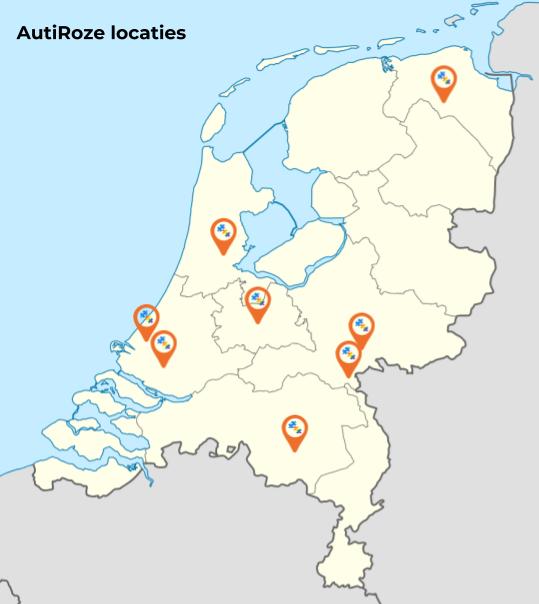 AutiRoze Locaties